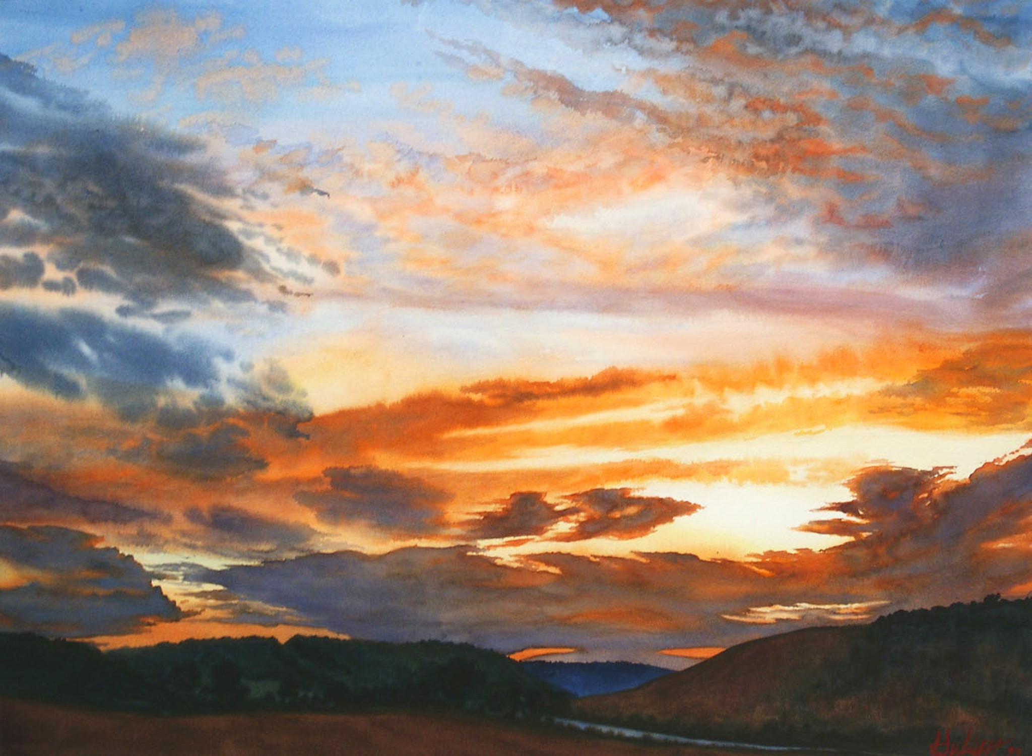 [painting: Golden Moment, painting by John Hulsey; copyright 2005. Used with permission.]