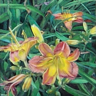 [painting: Lilies by Barbara Waterman-Peters; copyright 2009. Used with permission. All rights reserved.]