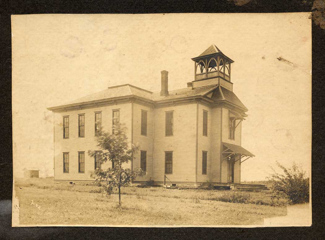 [Photo: Barclay Schoolhouse (1887), circa