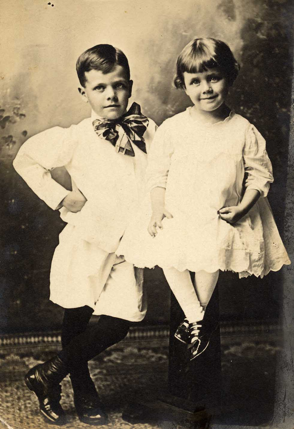 [Photo: Dorothy and her brother
