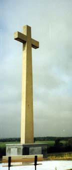 [Photo: Coronado Cross, FCHS's memorial to the June 29, 1541, crossing of the Arkansas river near Fort Dodge by the Spanish explorer Francisco Vasquez de Coronado.]