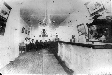 [photo: Long Branch saloon interior. All rights