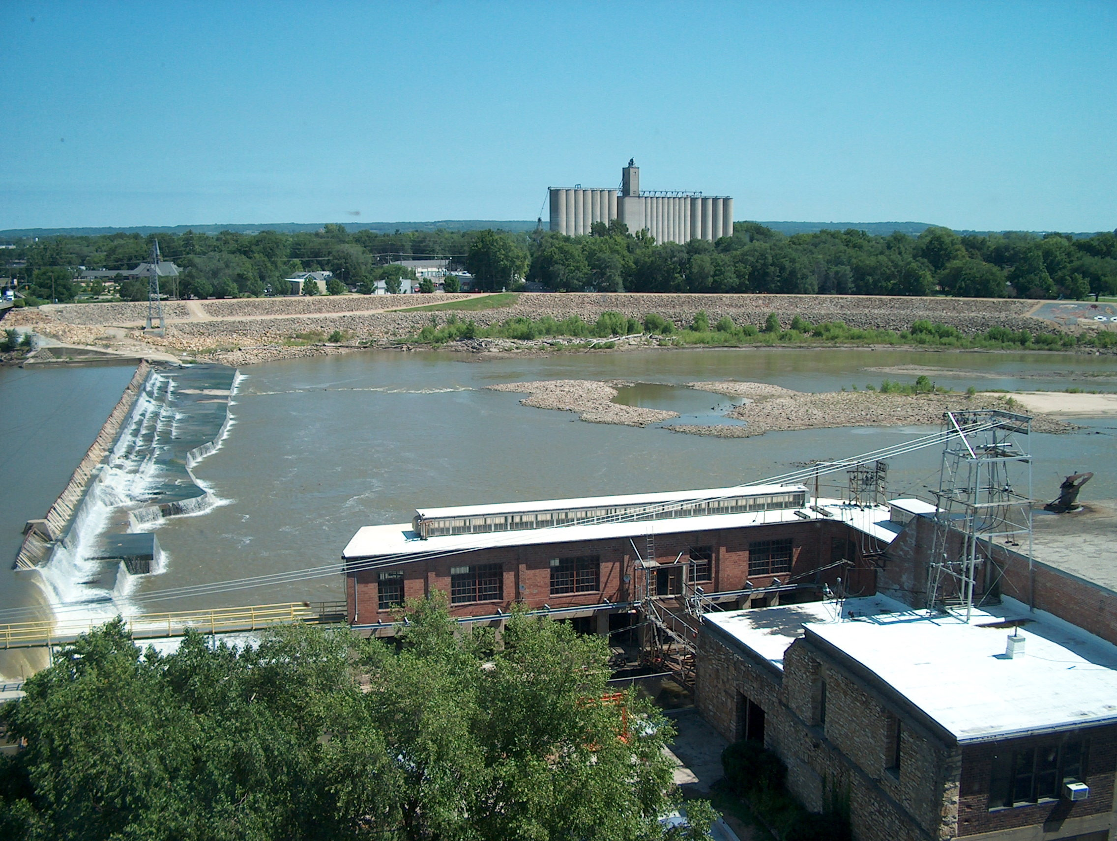 [Kaw (Kansas) River from City Hall fourth floor.]