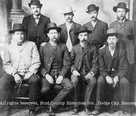[Photo: Original photograph of the 'Dodge City Peace Commission' in