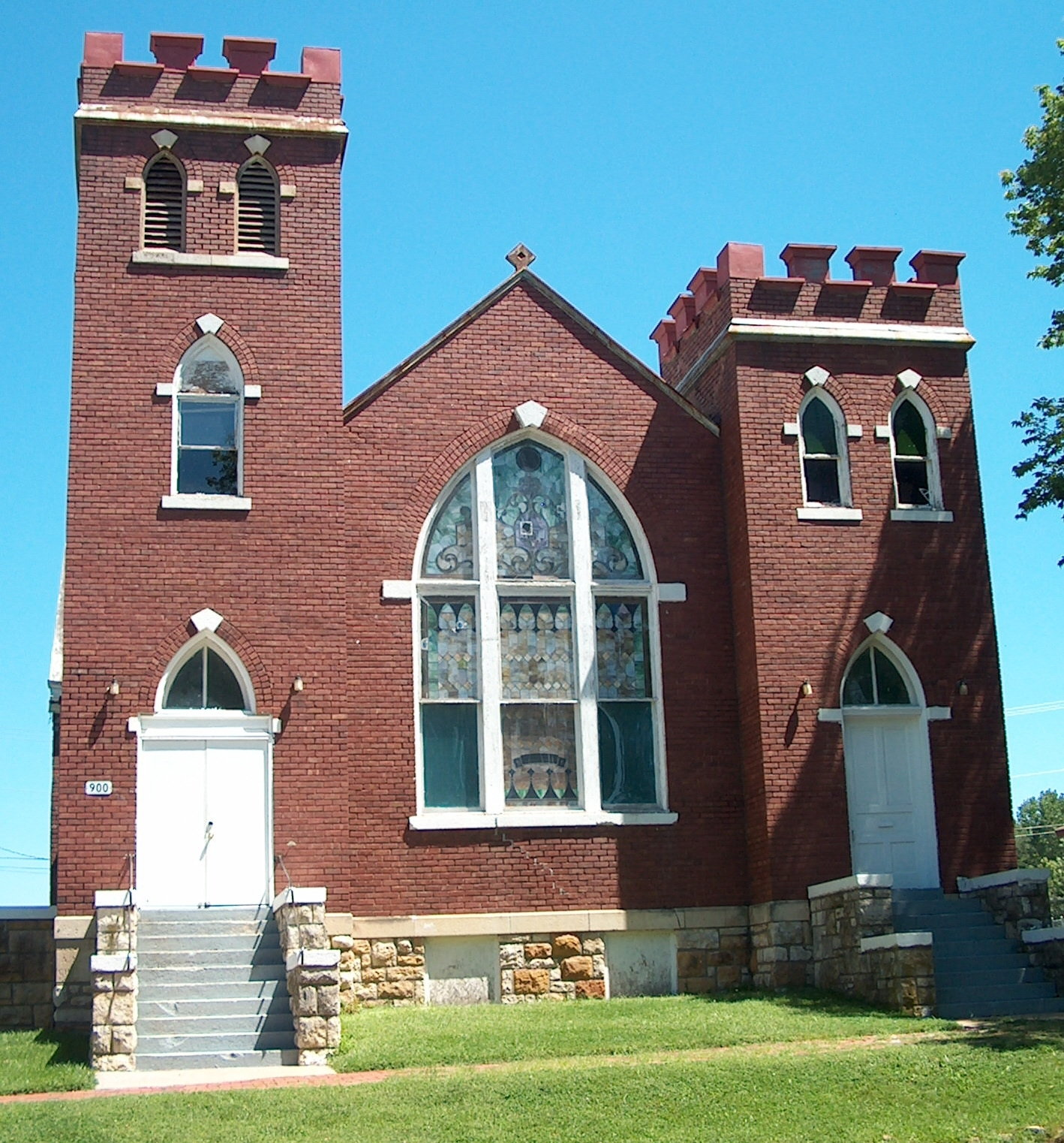 [St. Luke African Methodist Episcopal Church, 900 New York St. Built in 1910, the Gothic revival style building still stands.]