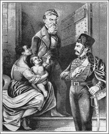 [Drawing: John Brown with baby. Courtesy, KanColl]