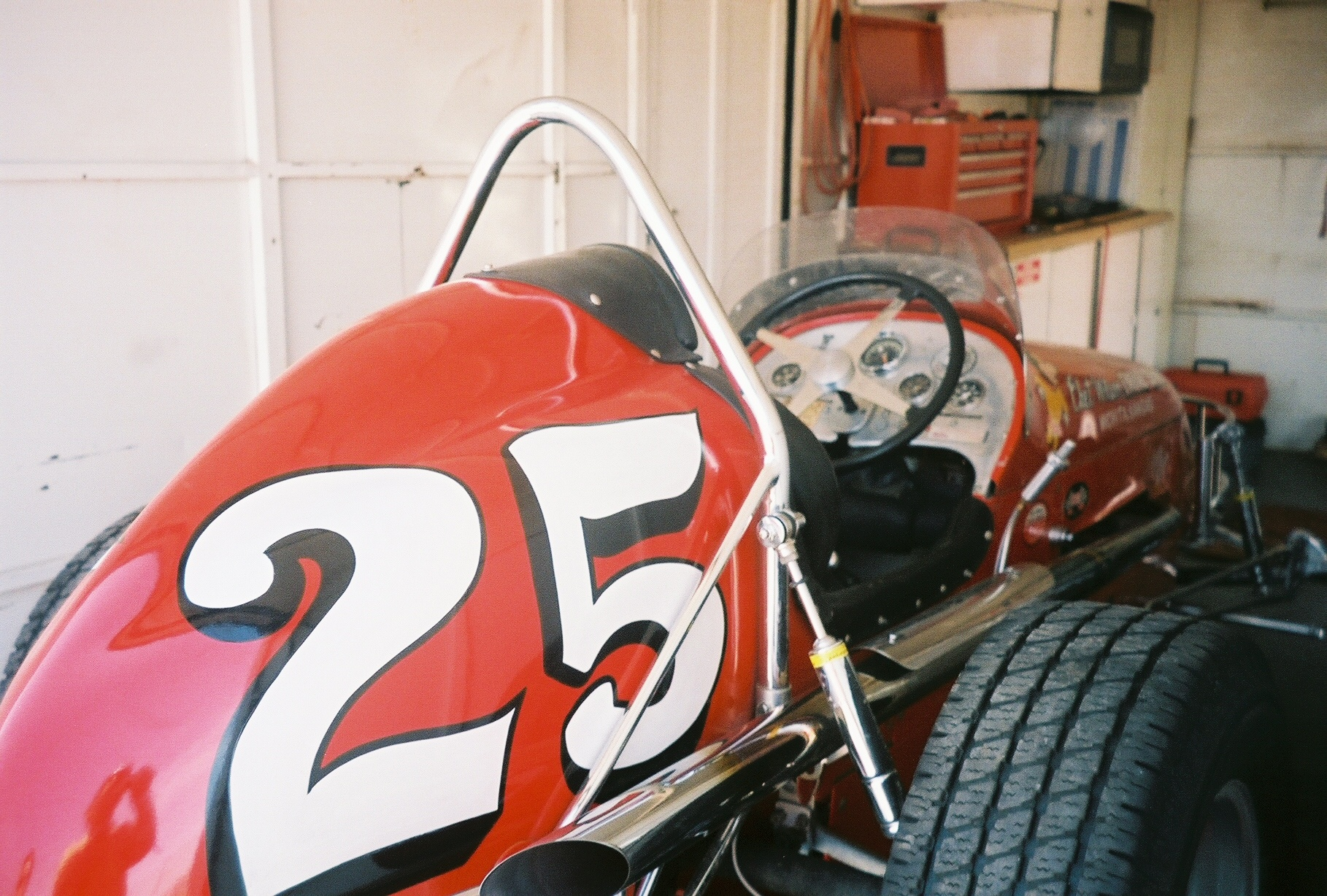 [photograph: Offy Killer, No. 25 Sprint Car, Chet Wilson, Wichita | Jetmore Motorplex | 2005 Photograph Copyright, George Laughead]