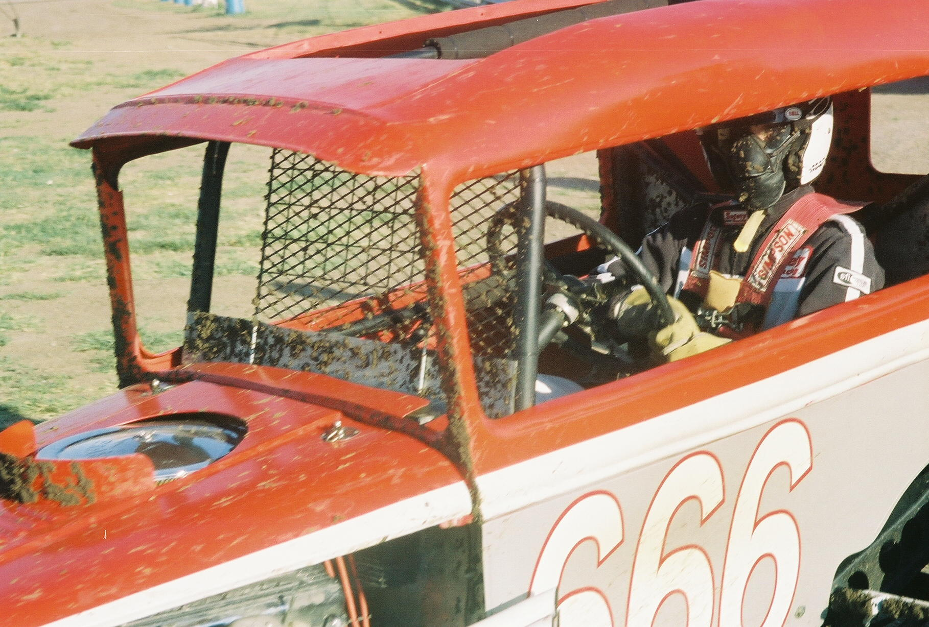 [photograph: Troy Burnett in his No. 666, Jetmore Motorplex, July 30, 2005, Jetmore, KS. Original owner, Bob Anton; driver, Dennis Anton; Anton's 66, Kinsley, KS.]