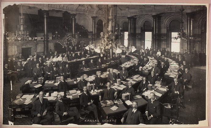 [photograph: Kansas Senate, 1905. All rights reserved, Kansas Heritage Group]